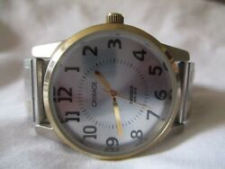 Carriage By Timex Gold And Silver Toned Wristwatch W/ Metal Expansion Band