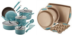 Rachael Ray Cucina Hard Porcelain Enamel Nonstick Cookware Set 12-piece Agave...