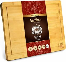 Xxxl Bamboo Cutting Board For Kitchen 24x18 Cheese And Charcuterie Serving Tray
