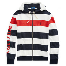 Polo French Terry Americana Zip Up Hoodie Size Xlargenwt