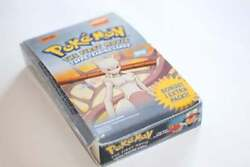 Topps Pokemon The First Movie Trading Cards 10 Sealed Booster Packs Box 2526