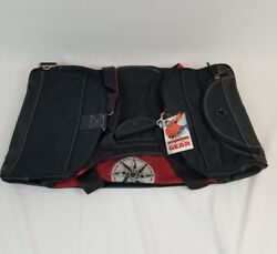 Marlboro Unlimited Gear Black Red Large Size Duffle Bag Compass New 26x16
