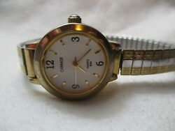 Carriage By Timex Wristwatch Silver And Gold Tone Expansion Band White Face Wr 30m