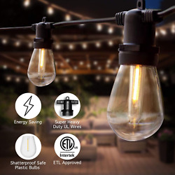 String Light Led Lamps Outdoor Commercial Patio Porch Party Wedding Dimmable 96f