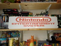 Nes Display White Nintendo Entertainment System Aluminum Sign 6 X 24.