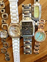 5 Fossil Mens And Ladies Quartz Watches - Assorted Styles Glitzy And Bold