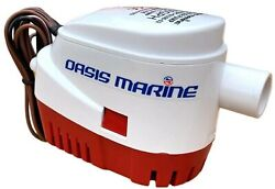 Oasis Marine - Automatic Boat Bilge Water Pump 12v 1100 Gph 1 1/8 Inch Outlet...