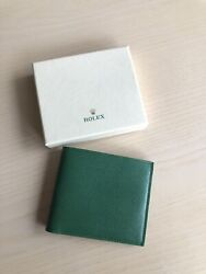 New In Box Rolex Green Saffiano Leather Wallet Credit Card + Box From Dealer
