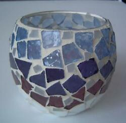 Home Interior Mosaic Glass Candle Holder For Votive Tea Lights Or Mini Candles
