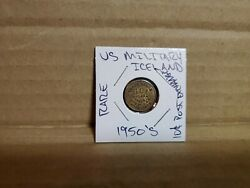Us Military Token Post Exchange 10 Cents 1950and039s Iceland