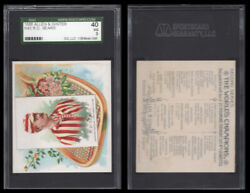 1889 N43 Allen And Ginter The World Champions R.d. Sears Hall Of Fame 3140 Sgc 40