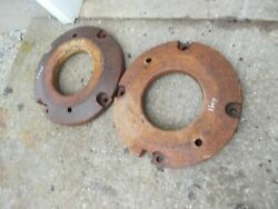 Massey Harris Pony Tractor Original Front Wheel Weights Weight Extremely Rare