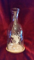 Collectors Gulf Shores Alabama Dolphin Sand Glass Bottle