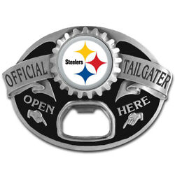 Pittsburg Steelers New Tailgater Belt Buckle With Bottle Opener . Nfl Football