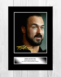 Drew Mcintyre 5 Wwe A4 Reproduction Autograph Poster Choice Of Frame