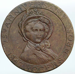 1922 Usa Connecticut Rogers Brothers Smiths So Called Dollar Token Medal I88155