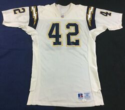 Vintage90's San Diego Chargers 42 Football-nfl Russell Jersey Size50