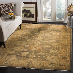 Safavieh Oushak Collection Osh144a Hand-knotted Brown And Rust Wool Area Rug 9and039