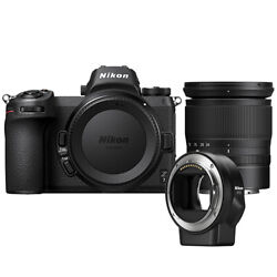 Nikon Z 7 Mirrorless Digital Camera With 24-70mm Lens And Ftz Mount Adapter Kit