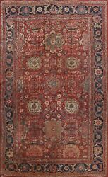 Pre-1900 Geometric Traditional Large Area Rug Hand-knotted Wool Oriental 10x13