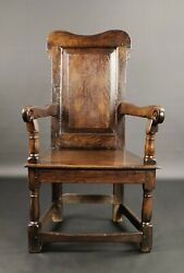 An Early 18th Century Welsh Wainscot Chair.