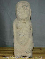 Chinese Hongshan Culture Old Antique Stone Jade Carving Original People Statue