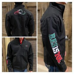 Resistol Menand039s Limited Edition Mexico Jacket - Black Free Shipping