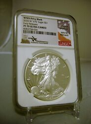 silver Eagle 2020 W V75 Wwii Ngc Pf70 Ucam Mercanti Signed First Releases