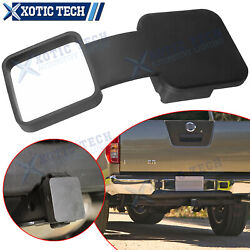 1pc 2 Trailer Tow Hitch Receiver Rubber Cover Plug Dust Cap For Nissan Frontier