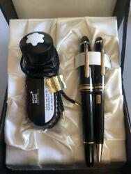 Mont Blanc Ballpoint Pen And Fountain-pens Not For Sale Nib 14k Black Gold F/s
