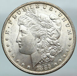 1885 United States Of America Vintage Silver Morgan Us Dollar Coin Eagle I88128