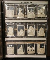 Silver Bar Set Norman Rockwell Best Loved Post Covers 12 Bars 1916-1960
