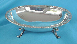 Vintage R Miracoli - 800 Silver - Footed Bowl With Rope Style Edge