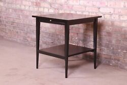 Paul Mccobb Planner Group Mid-century Modern Black Lacquered Side Table