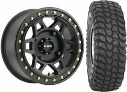 Mounted Wheel And Tire Kit Wheel 15x7 5+2 4/136 Tire 35x10-15 8 Ply