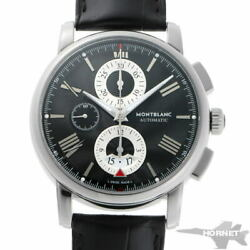 4810 Chronograph Automatic 115123 Black Stainless Men's Watch [b0203]