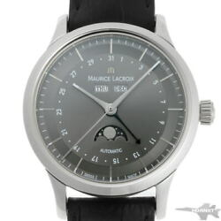 Maurice Lacroix Classic Moon Phase Lc6068-ss001-331 Ss Menand039s Watch [b0203]