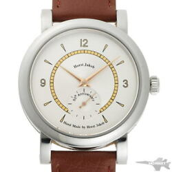 Jacques Etoile 50th Anniversary Manual As1123 Silver Ss Menand039s Watch [b0203]