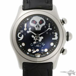 Corum Bubble Jolly Roger Limited Quartz 196.260.20 Stainless Ladies Watch[b0203]