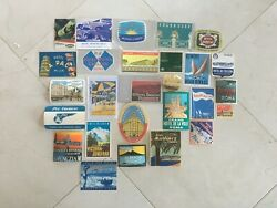 Set Of Rare Vintage Travel Luggage Stickers/decals Labels