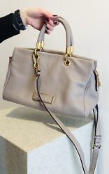 Marc By Marc Jacobs Taupe Leather Satchel $70.00