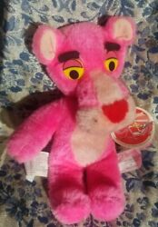 """1980 Vintage Plush Pink Panther 10"""" Tall By Mighty Star Stuffed Animal Toy W/tag"""