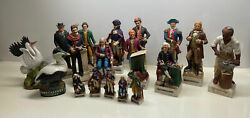 """Huge Mccormick Whiskey Decanter Collection Historical Figures Big 13"""" Small 6"""""""