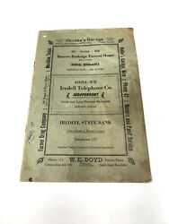 Iredell Texas 1951-52 Telephone Book Phonebook Directory Free Shipping