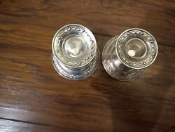 Vintage Weighted Sterling Silver Candle Sticks Candle Holder Antique, Set Of Two