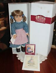 Retired 1990s Pre-mattel American Girl Doll Kirsten And Box Germany Tag Minty