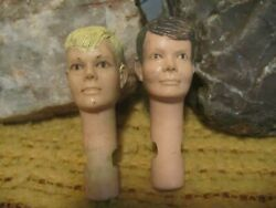 Johnny West Heads, Jay And Jamie West By Marx, 1/6th Scale Cowboy