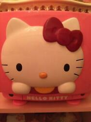 Used 1989 Sanrio Hello Kitty 30th Crt Color Tv 14inch Pink Only 3000 Rare