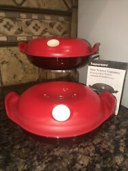 Tupperware Heat N Serve Round Microwave Containers 475 Ml/set Of 2