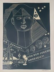 Fine Art Poster Original Painting New Age German Metaphysics Signed Rudy Rios